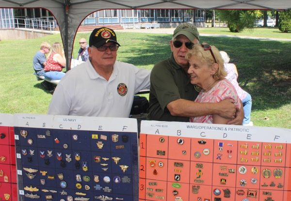 Tri-County Council Vietnam Era Veterans Hugs by pins